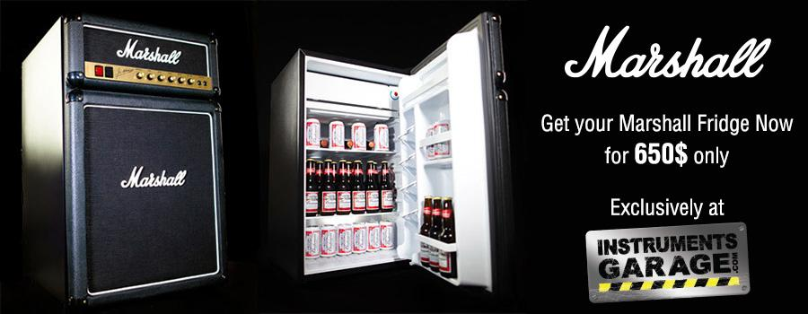 Get your Marshall Fridge NOW, exclusively at Instruments Garage